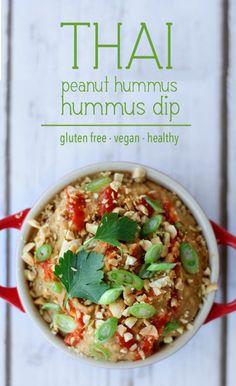 peanut hummus dip