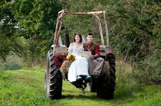 Tractor Wedding at Welsh Green Weddings