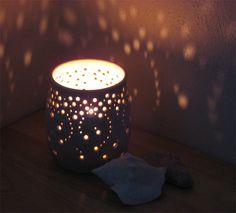 In Stock Handmade Ceramic Luminary Falling Stars by NaomiAnita