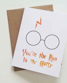 Valentine's Day card for Harry Potter fans