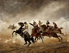 French and Prussian Cuirassiers in action