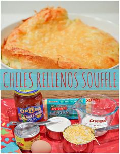 Chiles Rellenos Souffle - a simple Mexican dish perfect as a side dish or a festive cinco de mayo brunch!
