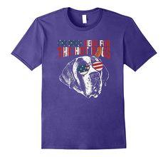 Saint Bernard Shirt Funny 4th of July Pup Tee