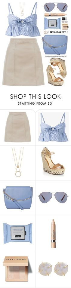 """60-Second Style: Insta-Ready"" by palmtreesandpompoms ❤ liked on Polyvore featuring New Look, Maryam Nassir Zadeh, Kate Spade, Schutz, Dorothy Perkins, Victoria Beckham, Neutrogena, L'Oréal Paris, Bobbi Brown Cosmetics and Melissa Joy Manning"