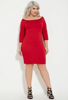 Plus Size Off-the-Shoulder Bodycon Dress   Forever 21 PLUS #forever21plus