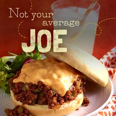 This ain't your lunch lady's Sloppy Joe… with crisp green peppers and zesty BBQ sauce these Joes will be a hit with both #kids and adults alike! #lunch