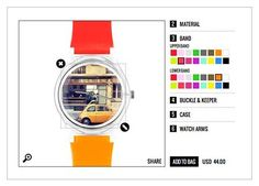 Upload your instagram pics and get em printed on a watch (or any other photos, for that matter).