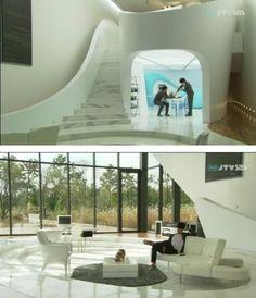 내가 가장 이상적으로 생각하는 건축 모델. 곡선과 투명.