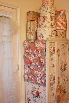 Beautiful storage. I do the same thing. Everything I store in my home is in beautiful containers.
