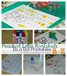Preschool Letter Worksheets: Do a Dot Printables for A-Z
