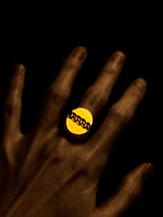 """Yes. I'm a zombie."" #photography #hand #finger #ring #gold #dark #ahsheegrek"
