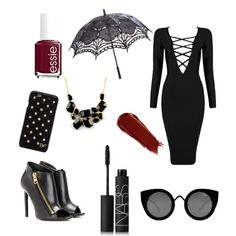 Coven by kaycie-marie-surrell on Polyvore featuring polyvore, fashion, style, Posh Girl, Tom Ford, Emi Jewellery, Diane Von Furstenberg, Quay, NARS Cosmetics and Essie
