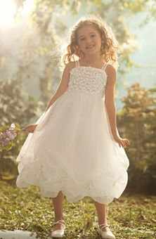 Brides: Disney Fairy Tale Weddings by Alfred Angelo : Style No. 709 : Flower Girl Dresses Gallery
