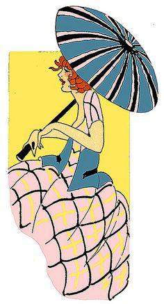 Umbrella Painting, Umbrella Art, Art Nouveau, Art Deco Cards, Art Deco Posters, Art Deco Era, Art Deco Design, Vintage Pictures, Art Deco Fashion