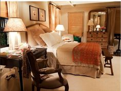 Love the warmth of this master bedroom.