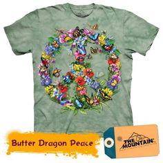 Tricouri The Mountain – Tricou Butter Dragon Peace Butterfly Gifts, Butterfly Dragon, Green Tee, Tee Shirts, Tees, Blossom Flower, Personalized T Shirts, Dye T Shirt, Tye Dye