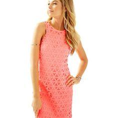 Nwt Lilly Pulitzer Mango Shift Laser Cut Dress