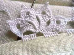 Ideas knitting stitches lace tricot for 2019 Crochet Lace Edging, Crochet Motifs, Crochet Borders, Thread Crochet, Crochet Trim, Love Crochet, Lace Knitting, Irish Crochet, Knitting Stitches