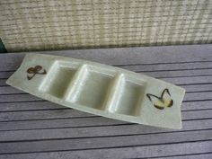 Vintage Mid Century Modern 50's Fibreglass Sectioned Serving Tray, Butterfly Tray - I want this so bad!  I have three trays that match!