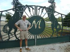 This is an entry gate on a 100 acre farm near my home in DeFuniak Springs on Highway 2. It is laser cut metal and also has a fifteen foot tall wooden carved horses.