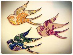 Vintage wallpaper Birds... Women's conference idea