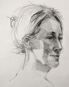Lorna in graphite by David Gamblin
