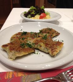 Maultaschen Swabian Pockets Recipe - Filled with Spinach and Beef and or vegetable; great in a broth or fried. A Swabian specialty served in every Gasthaus.