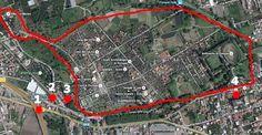 Die Ausgrabungsstätten von Pompeji1 - Autobahnausfahrt der A3 (Ausfahrt Pompeji) 2 - Haltestelle der Schnellbahn Circumvesuviana (Stazione Villa dei Misteri) 3 - Haupteingang (Porta Marina), 4 - Eingang Piazza Anfiteatro