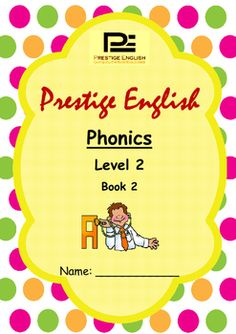 Phonics Book  Level 2 Book 2 ( Jolly Phonics / Letterland ) (Digraphs)This is the 4th principal book in a 6 book series of the Prestige English Phonics Series.This book contains 16 digraphs with simple vocabulary for reading/blending.Included for each sound is an action to help students to learn/remember the digraphs.