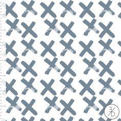 Blue X by Elvelyckan Design - Euro Designer Knit - Organic Cotton Knit
