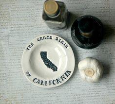 Garlic Grater Dish  Ceramic garlic grater by TheBabyHandprintCo