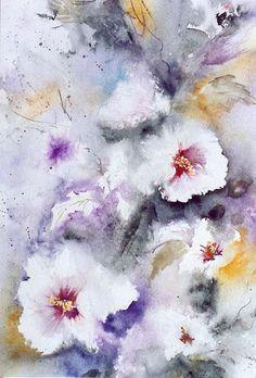 Hibiscus partie 3 - Josette MARREL WATERCOLOR
