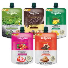 New! Taste'n Time pudding restores your confidence in real food with its ability to power you through your daily adventures. These grab'n go wholesome foods are rich in vitamins and convenient to eat.