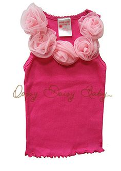 Hot Pink Oopsy Daisy Baby Tank: guess my little Princess is a bit old for this *pondering who I can order this for*.  Jump for more:  http://www.oopsydaisybaby.com daisi babi, diy diy, diy fashion, oopsi daisi, babi tank, daisies, handmad diy, diy decor, flower