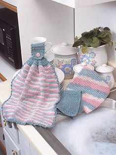 crocheted kitchen trio-free pattern download