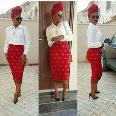 Skirt African Wear, African Style, African Dress, African Fashion, African Patterns, Style Africain, Kente Styles, Ankara Skirt, African Clothes