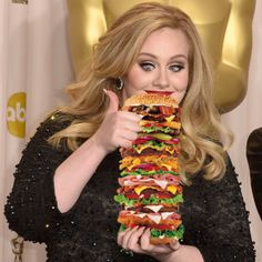 Adele winner are large burger