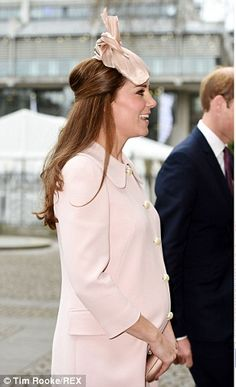 Not long now: The Duchess, who turned 33 in January, is due to give birth to her second child next month