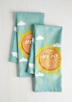 Sunbeam and Sugar Tea Towel Set, @ModCloth