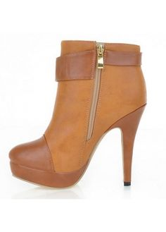 Brown PU High Heel Knee High Boots for Woman on sale only US$24.96 now, buy cheap Brown PU High Heel Knee High Boots for Woman at martofchina.com