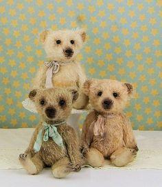 Little Bitty George artist mohair bear by Padfieldbears on Etsy