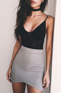 How to wear bodysuit outfit | Lovika #skirt #summer #lingerie