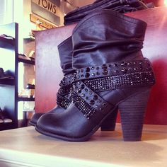 Ahh! These are darling black studded boots. Must have.
