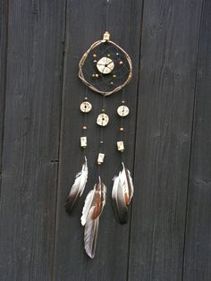 Long dream catchers -Dreamcatcher - Natural rustic Home Decor-Bohemian Magical - Natural Goose feathers- Large gypsy style