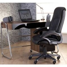 Tesco direct: Alphason Juo Workstation in Walnut and Black