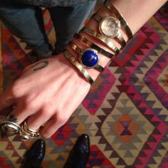 Pamela Love wearing bracelets from her #fall14 collection - LS