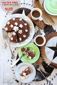 Gluten Free Chocolate Sour Cream Cake | FamilyFreshCooking.com