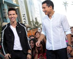 Prince Royce and Mario Lopez