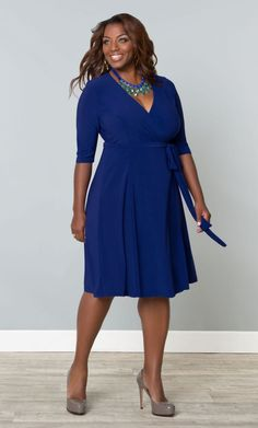 #plussize Essential Wrap Dress at Curvalicious Clothes  #bbw #curvy #fullfigured #plussize #thick #beautiful #fashionista #style #fashion #shop #online www.curvaliciousclothes.com TAKE 15% OFF Use code: TAKE15 at checkout