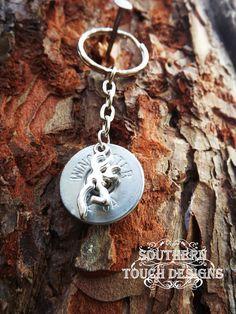 Shotgun shell key chain, silver deer key chain,  silver deer head,  12 gauge, hunting accessories, camo keychain, redneck
